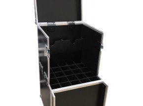 Muziek flightcase - Statieven flightcase voor 25x statief