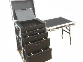 Machineonderdelen flightcase - Toolcase 4x lade